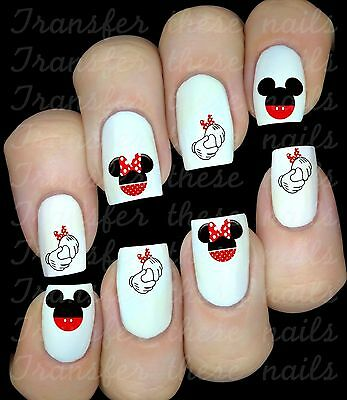 30 Autocollant stickers ongles Mickey Minnie Mouse nail art manucure déco