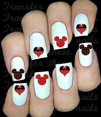 Mickey Minnie Mouse 30 stickers autocollant ongles manucure nail art déco #2