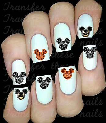 Mickey Minnie Mouse Halloween 30 stickers autocollant ongles manucure nail art