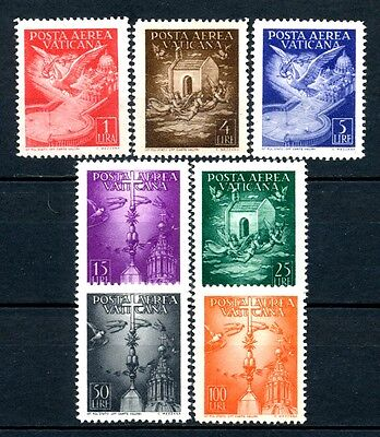 "No: 37501 - VATICANE/ITALY (1947) - ""AIR MAIL"" - AN OLD COMPLETE SET - MH!!"