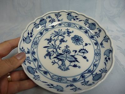 VINTAGE MEISSEN BLUE ONION SHALLOW BOWL - CROSSED SWORDS MARK - EARLY 20TH C.?