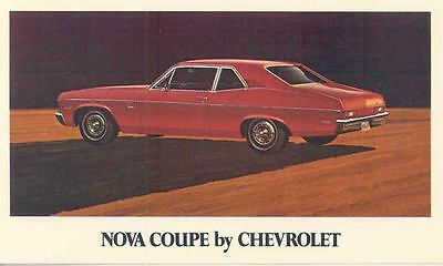 1971 Chevrolet Nova Coupe ORIGINAL Factory Postcard my0538