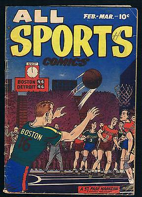 "All Sports Comics #3 Jim Thorpe  Mike ""king"" Kelly Stories"