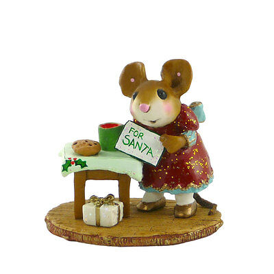 A TREAT FOR SANTA by Wee Forest Folk, WFF# M-341 Christmas Mouse
