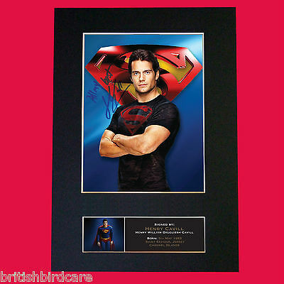 HENRY CAVILL Superman Signed Autograph Quality Mounted Photo Repro A4 Print 558