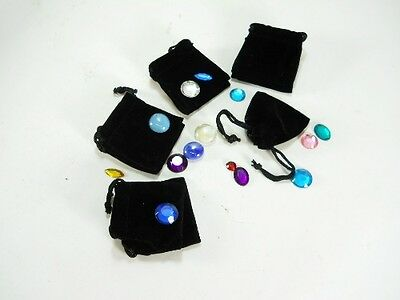 "25 pc. Black Velvet Draw String Jewelry Bags 2"" x 2 1/2"" wedding favor gift"
