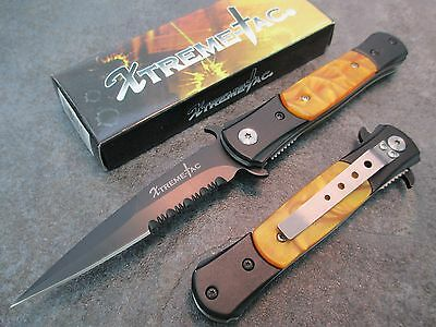 """8"""" Chicago Ice Pick Stiletto Spring Assisted Open Pocket Knife NEW XT466-PMS zix"""