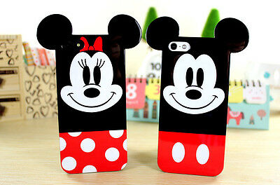 2 PCS 3D Cartoon Lover Couple Soft TPU Silicone Case Back Cover for iPhone 4 4S