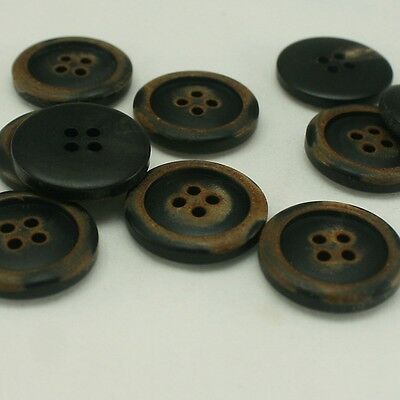 10 pcs of 20mm Cow bone Vintage inspired 4 holes round button antique button lot