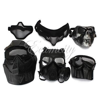 Tactical Face Protection Safety Gear Mask Guard for Paintball Airsoft Game C