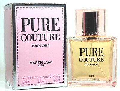 Pure Couture By Karen Low 3.3/3.4oz. Edp Spray For Women New In Box