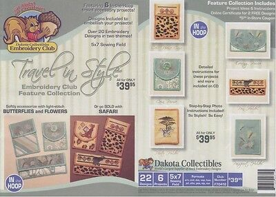 Dakota Collectibles F70412 Travel in Style Multi Format Embroidery Designs CD