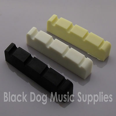 Black graphite electric bass guitar string fret end nut 42x6mm 4 string thick