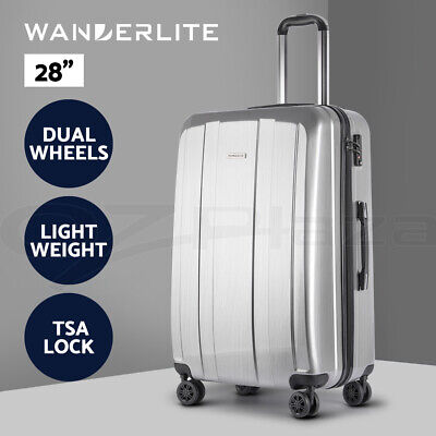 "Wanderlite 28"" Luggage Sets Suitcase Trolley TSA Travel Hard Case Lightweight PC"