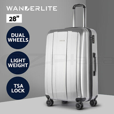 Wanderlite Luggage Sets Suitcase Trolley TSA Travel Hard Case Lightweight PC