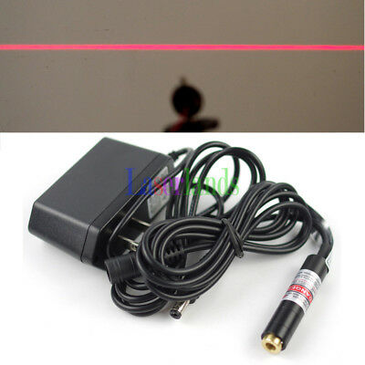 Focusable 650nm 5mw Red Line Laser Module DC5V Glass Lens Locater 12x55mm