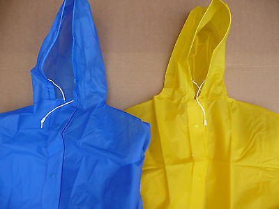XXL Outdoor Cycling Mobility Scooter Cape Rain Poncho Yellow or Blue New