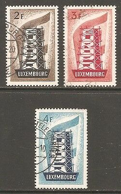 1956 Luxembourg Europa SG 609-611 Used (Cat £85)