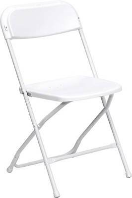 Lot Of 20 Hercules Series 650 Lb. Capacity Premium White Plastic Folding Chair