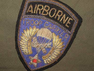 PATCH WW2 US ARMY AIRBORNE TROOP CARRIER BRIT MADE BULLION PERIOD ORIGINAL