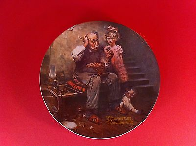 NORMAN ROCKWELL THE COBBLER  PLATE HERITAGE COLLECTION KNOWLES FINE CHINA 1978