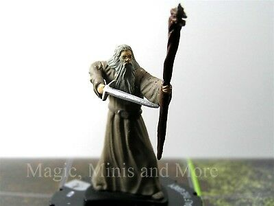 Lord of the Rings GANDALF THE GREY #18 Heroclix LOTR rare miniature Wizkids/NECA