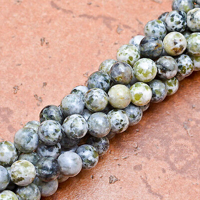 8MM NATURAL AFRICAN JADE GEMSTONE ROUND BEADS STRAND 15 2/3""