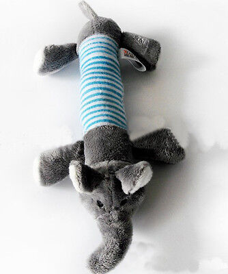 New Dog Toy Pet Puppy Chew Squeaker Squeaky Plush Sound Cute Gray Elephant Toys