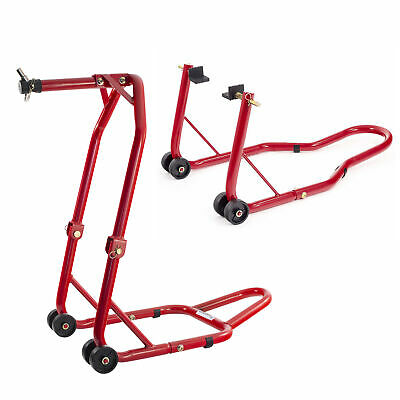 Warrior Front Head And Rear Motorcycle / Bike Paddock Stand / Stands Combo/Pair