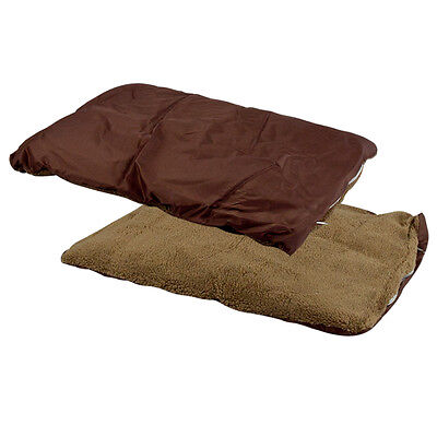 """House Kennel Bed Soft Cozy Pad Mat Brown 24"""" Small Pet Dog Cat Puppy Crate Cage"""