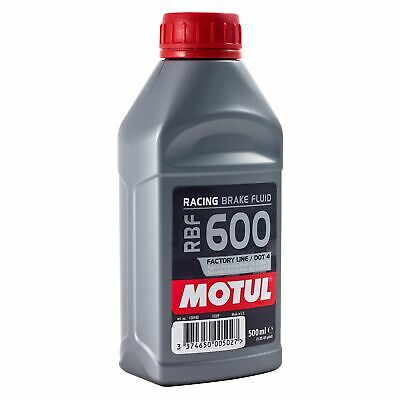 Motul RBF600 100% Synthetic Race/Racing/Rally DOT 4 Brake Fluid - 500ml