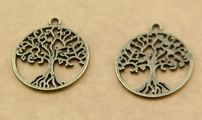Free shipping hot 10pcs 2.2x2.5 cm copper alloy jewelry pendant tree of life