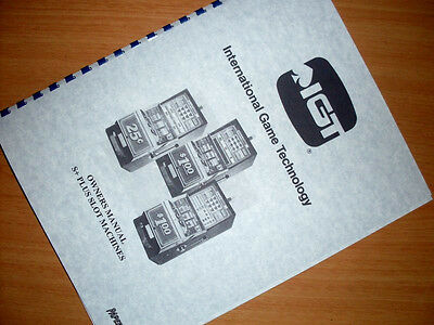 IGT S + PLUS SLOT MACHINE Owners & Service  MANUAL