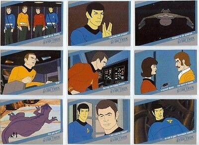 Star Trek TOS Quotable The Animated Series Chase Set - Full 18 Card Set