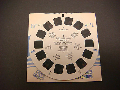 Sawyer's Viewmaster Reel,1946,Boulder Dam Nevada Canyon Cruise Gorge Temple, #5