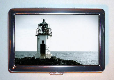 Lighthouse, Great Color Photo: Cigarette Case, ID Wallet USA Made