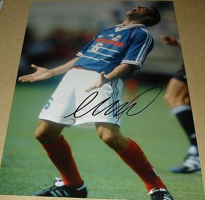 Youri Djorkaeff Personally Hand Signed Autograph 12X8 Photo France Soccer