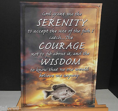 God Grant Me The Serenity Courage Wisdom Metal Sign  Apo&fpo Customers Welcome)