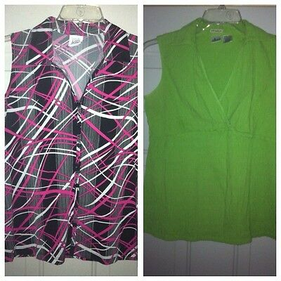 2 PC LOT MATERNITY TOPS SHIRTS BLOUSES SIZE SMALL