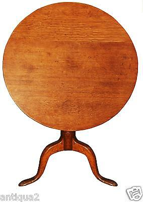 18TH CENTURY PERIOD ENGLISH GEORGE II TILT TOP TEA TABLE CARVED OAK QUEEN ANNE