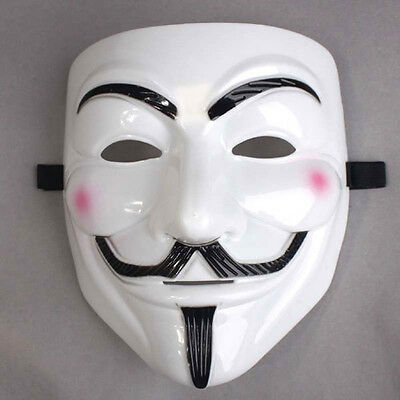 1pcs V FOR Vendetta Anonymous Movie Mask Halloween Party Adult Masks Prop