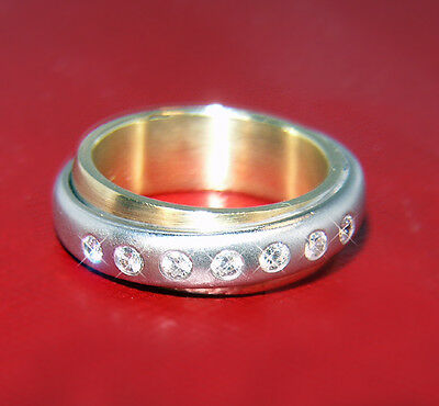 TRICOLOR BRILLANT Ring 750 GOLD Brillanten 0,28 ct Diamanten Goldring kaufen