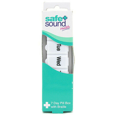 Safe & Sound 7 Day Pill Box with Braille