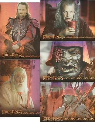 Lord of the Rings The Return of the King Full 10 Card Prismatic Chase Set