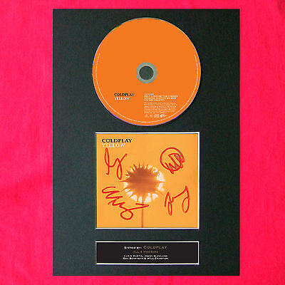 COLDPLAY Yellow Album Signed CD COVER MOUNTED A4 Autograph Print (46)