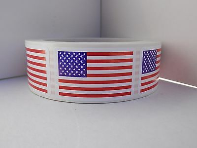 Made in the USA Made in America USA Flag American Flag Sticker Label 500/rl