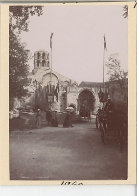 France, Arles, Les Alyscamps Vintage citrate print.  Tirage citrate  6x8
