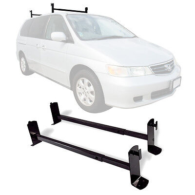 "54"" Roof Mount Gutterless Van Ladder Rack Cross Bar Tread Ladder Universal Steel"