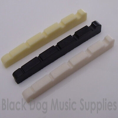5 string bass guitar top nut 45mm x 3.5mm in black, white or ivory