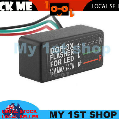 Motorcycle Car LED Halogen Flasher Relay Indicator Singal Light too fast stop fx